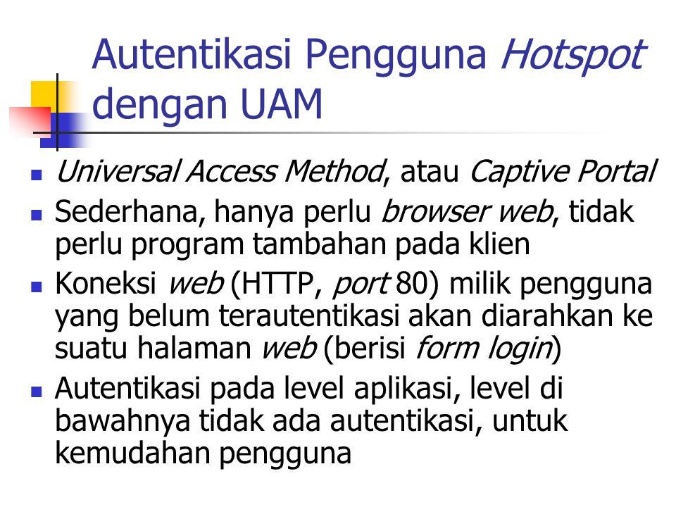 Autentikasi Pengguna Hotspot dengan UAM