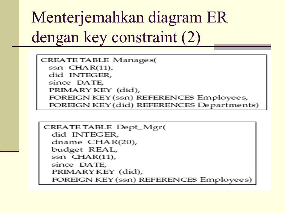 Menterjemahkan diagram ER dengan key constraint (2)