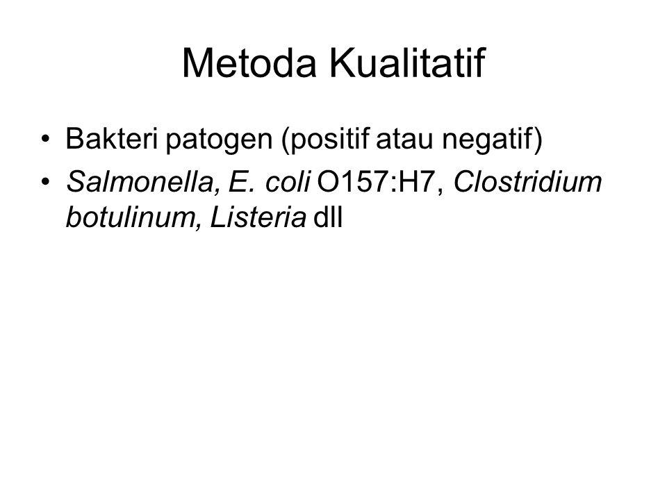 Metoda Kualitatif Bakteri patogen (positif atau negatif)