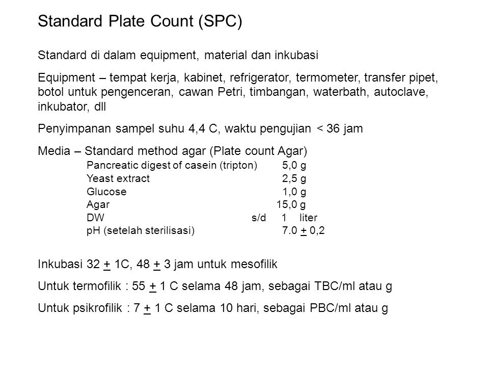 Standard Plate Count (SPC)