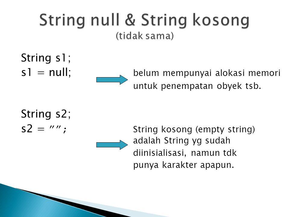 String null & String kosong (tidak sama)
