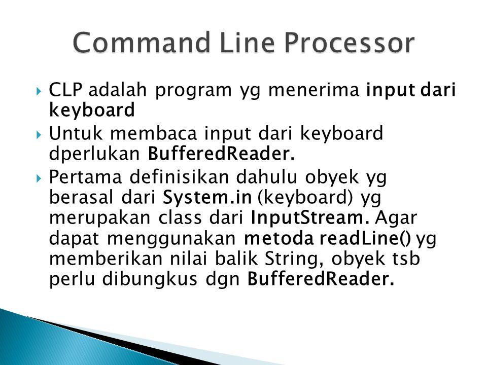Command Line Processor