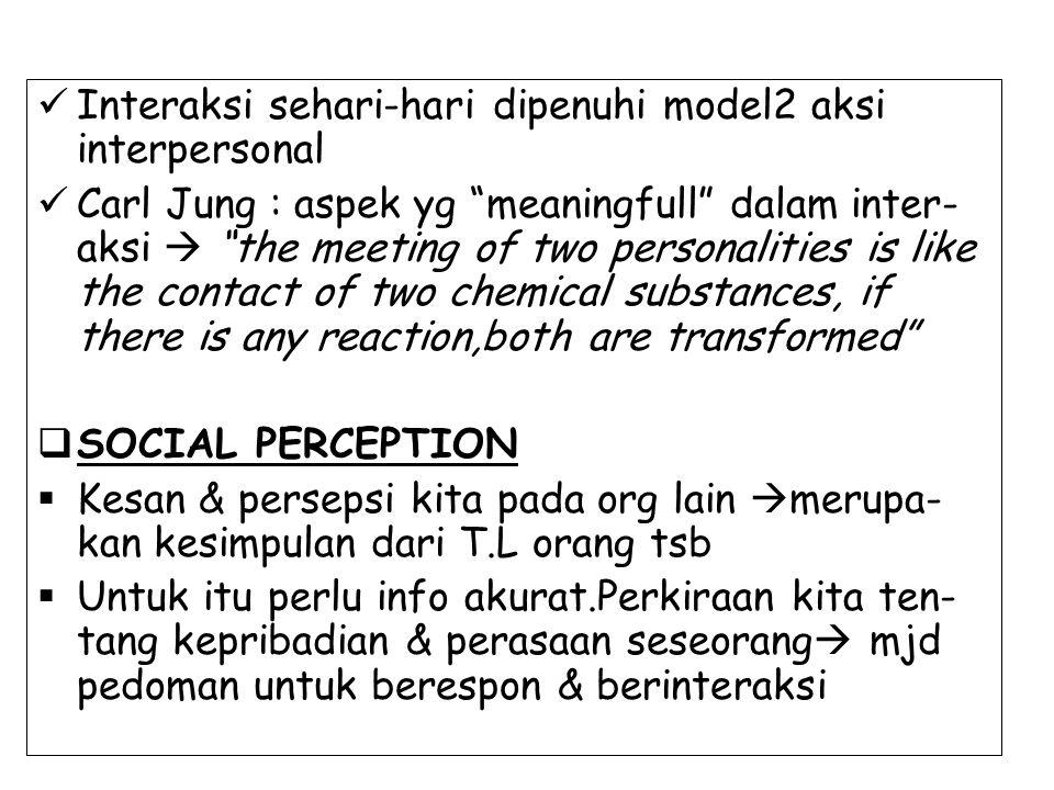 Interaksi sehari-hari dipenuhi model2 aksi interpersonal