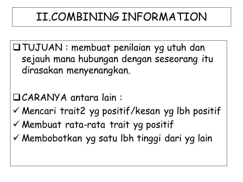 II.COMBINING INFORMATION