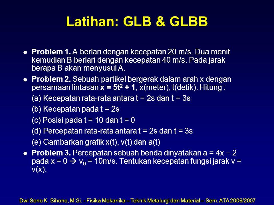 Latihan: GLB & GLBB