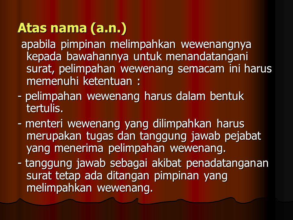 Atas nama (a.n.)