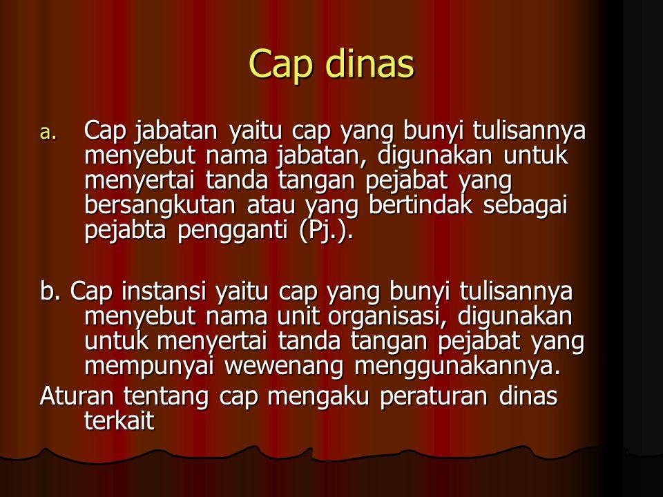 Cap dinas