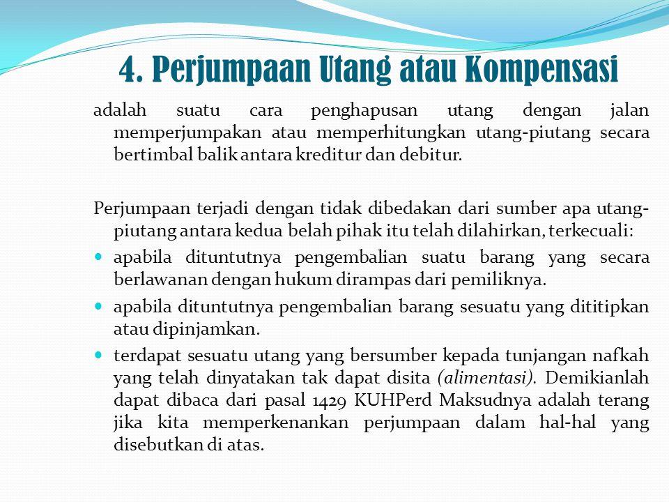 4. Perjumpaan Utang atau Kompensasi