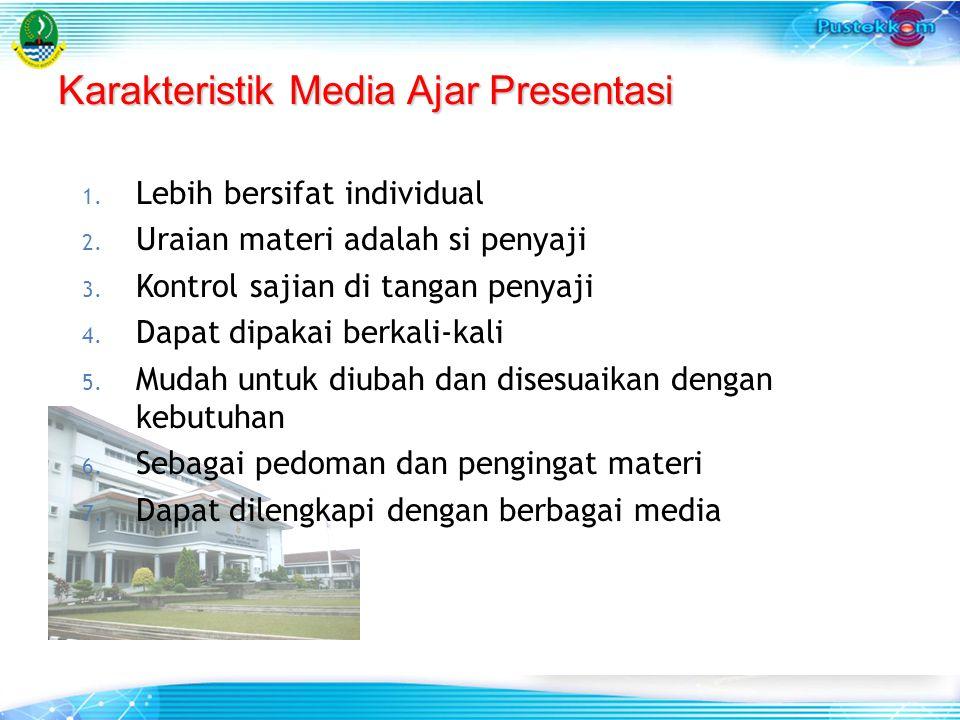Karakteristik Media Ajar Presentasi