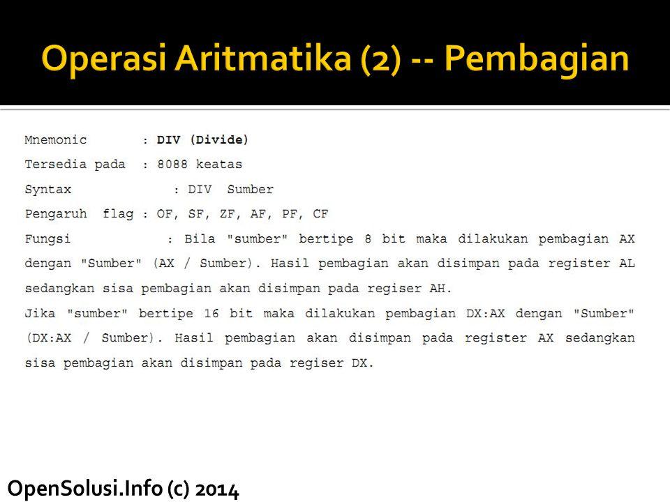 Operasi Aritmatika (2) -- Pembagian