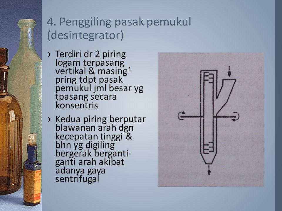 4. Penggiling pasak pemukul (desintegrator)