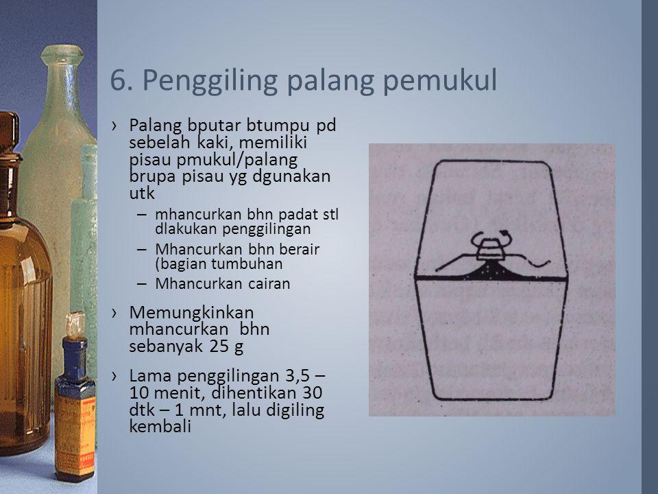 6. Penggiling palang pemukul