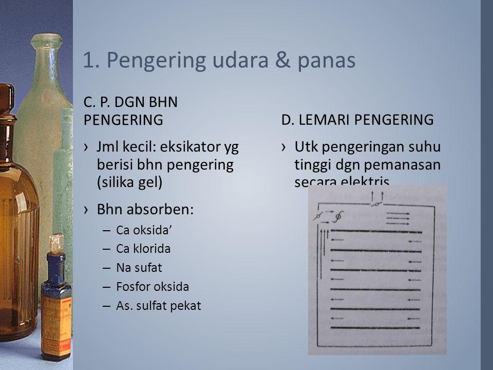 1. Pengering udara & panas