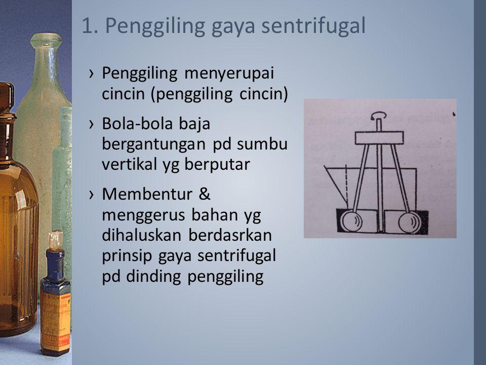 1. Penggiling gaya sentrifugal