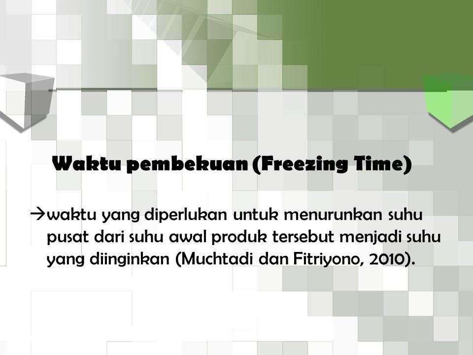 Waktu pembekuan (Freezing Time)