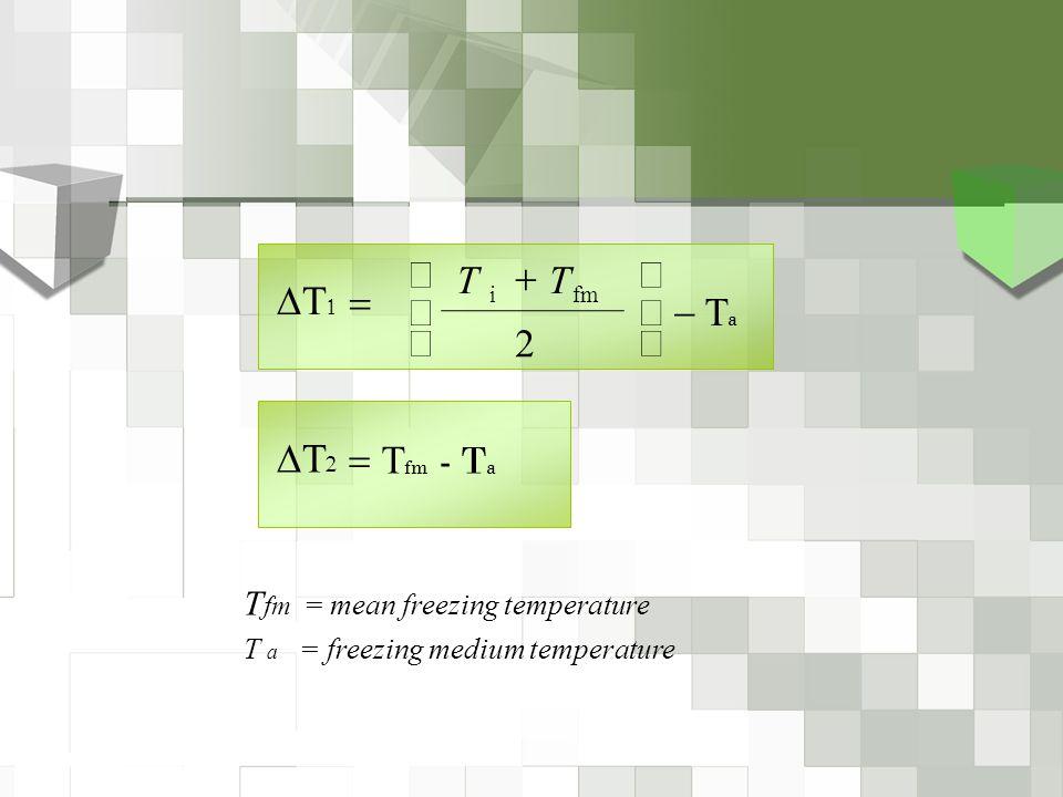 DT1 DT2 ú - Ta û ù ê ë é + = 2 T Tfm - Ta =