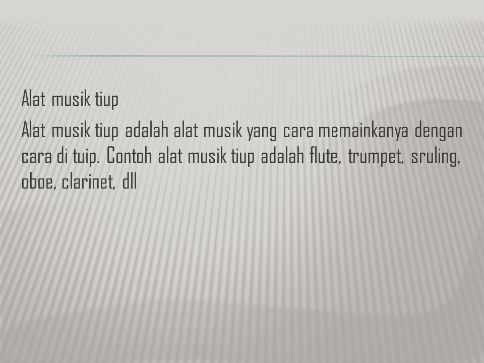 Alat musik tiup