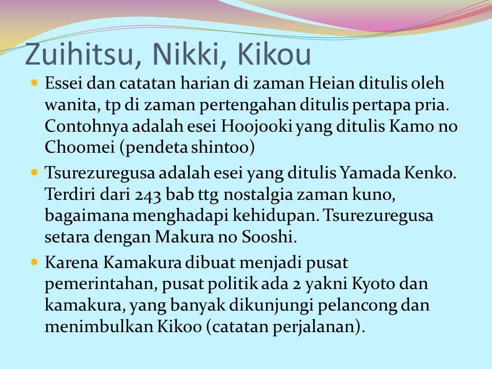 Zuihitsu, Nikki, Kikou