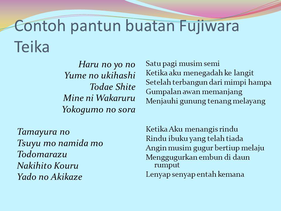 Contoh pantun buatan Fujiwara Teika