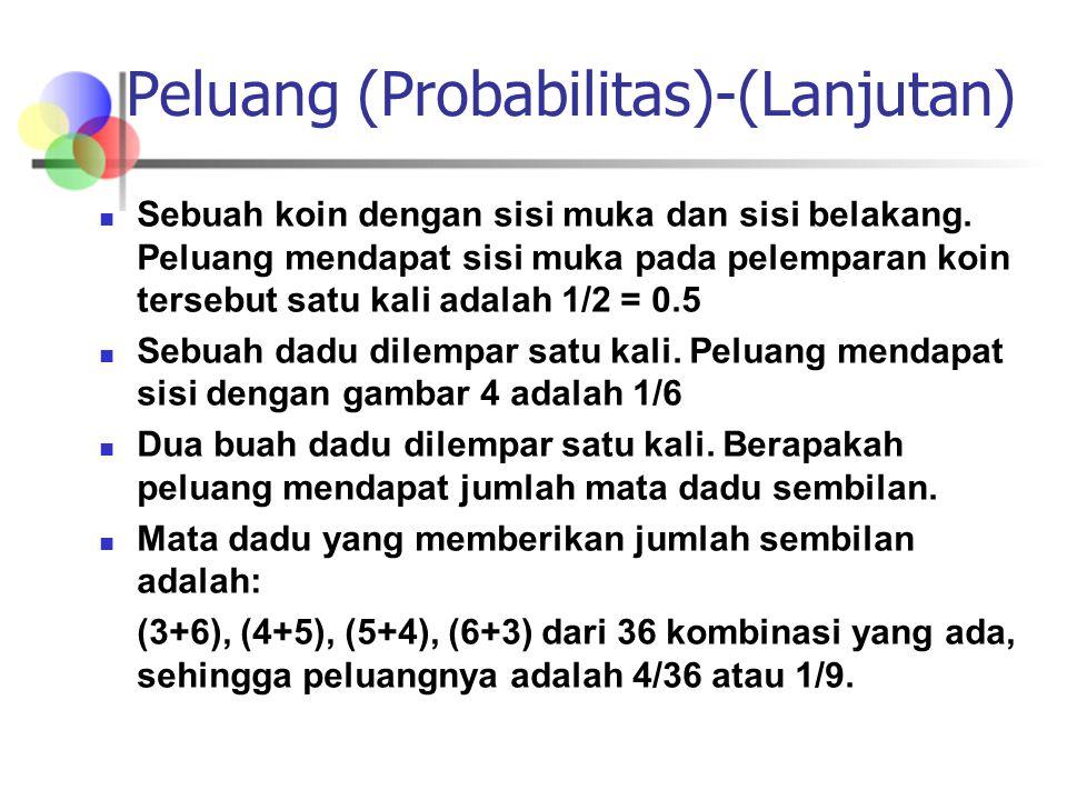 Peluang (Probabilitas)-(Lanjutan)