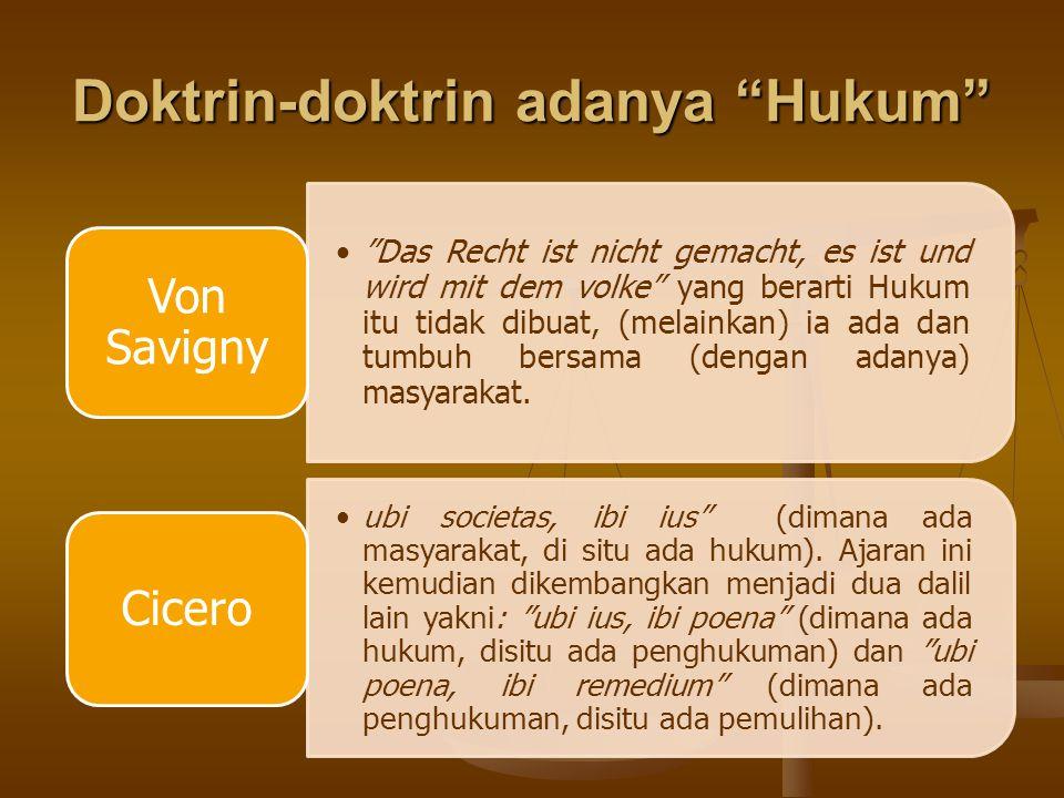 Doktrin-doktrin adanya Hukum