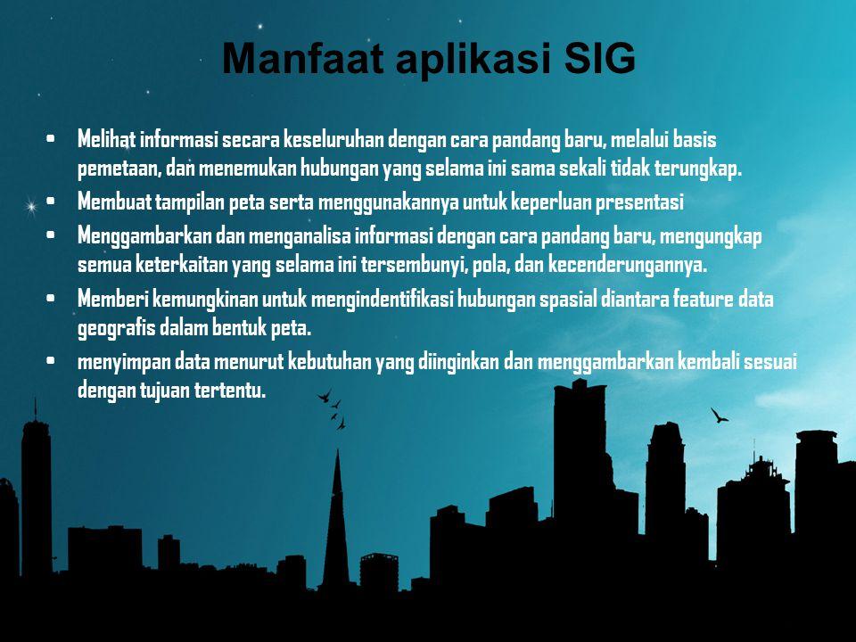 Manfaat aplikasi SIG
