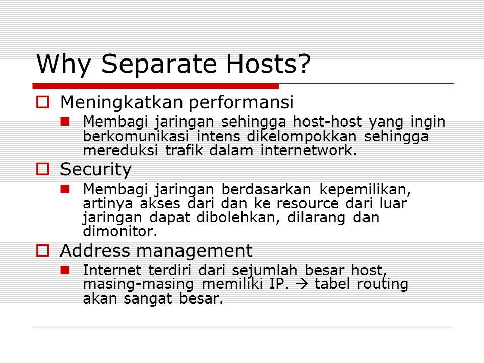 Why Separate Hosts Meningkatkan performansi Security