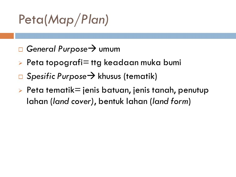Peta(Map/Plan) General Purpose umum