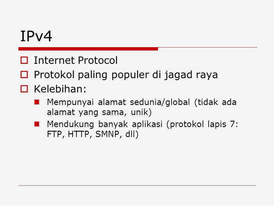 IPv4 Internet Protocol Protokol paling populer di jagad raya