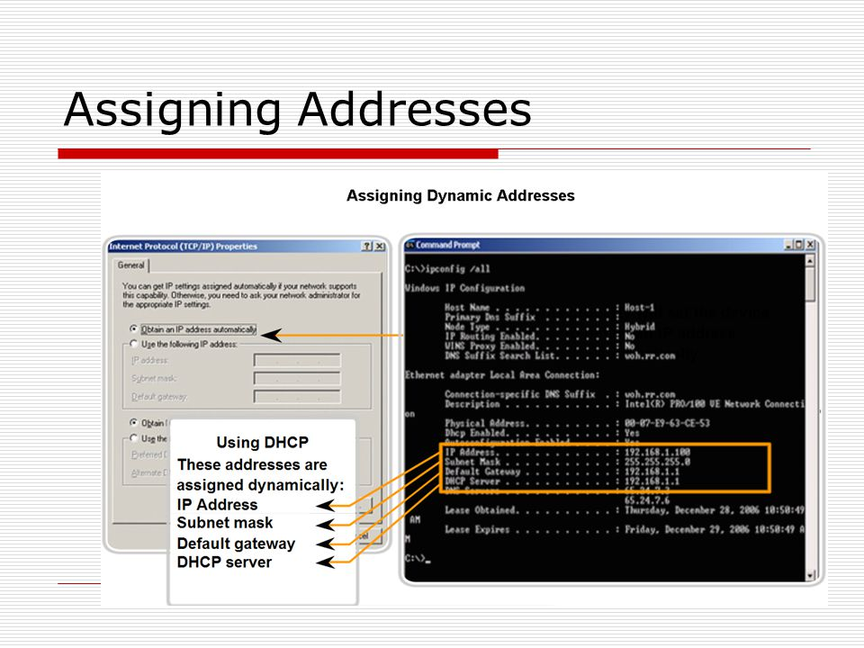 Assigning Addresses 22