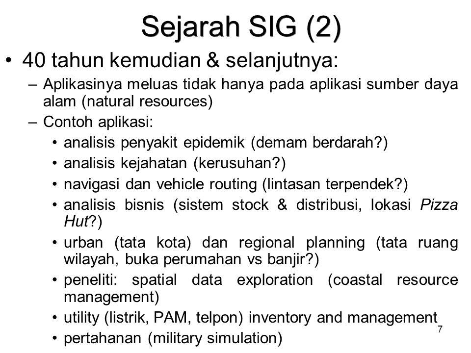 Sejarah SIG (2) 40 tahun kemudian & selanjutnya: