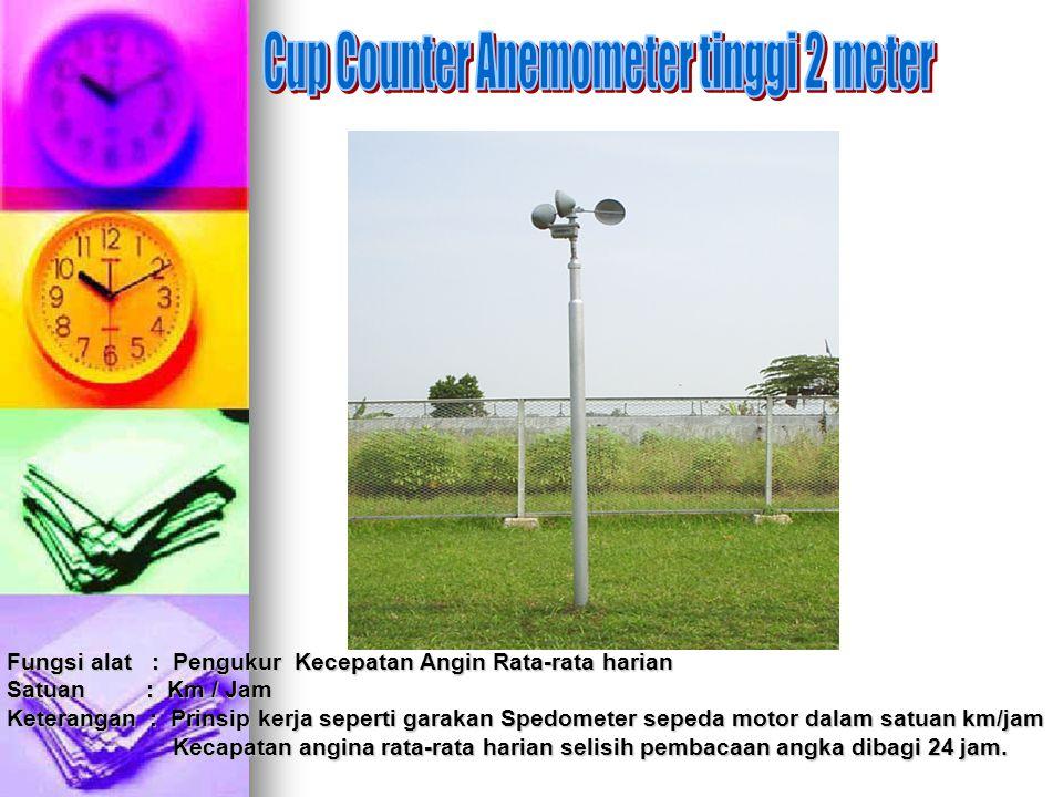 Cup Counter Anemometer tinggi 2 meter