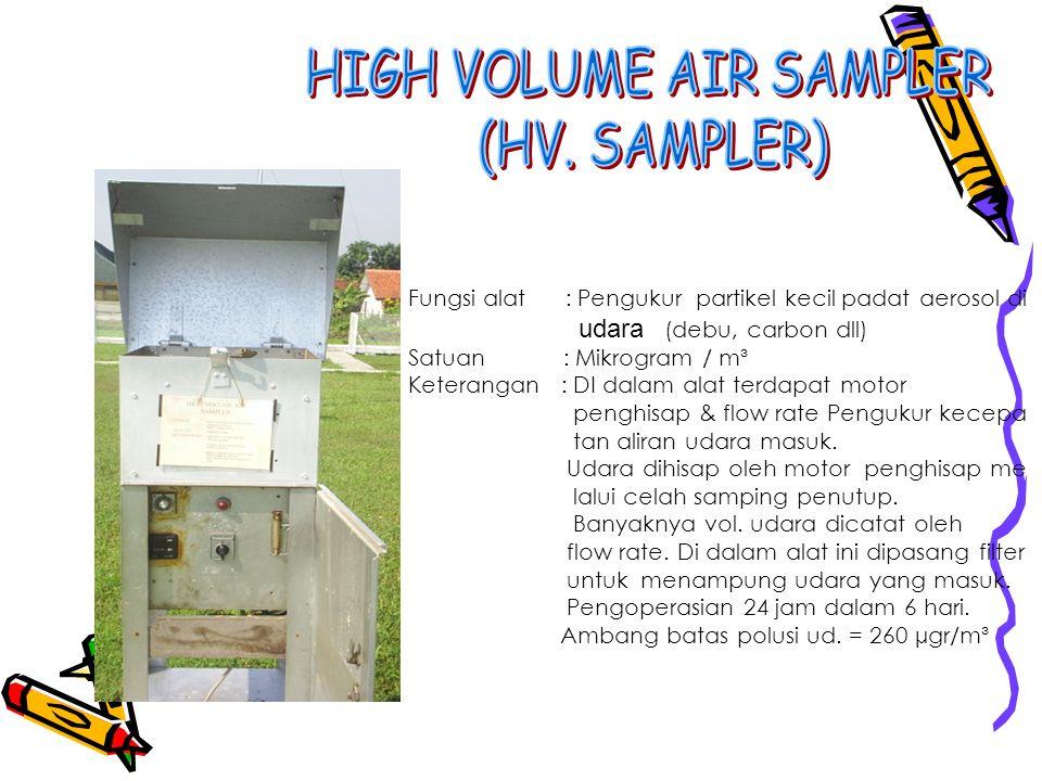 HIGH VOLUME AIR SAMPLER