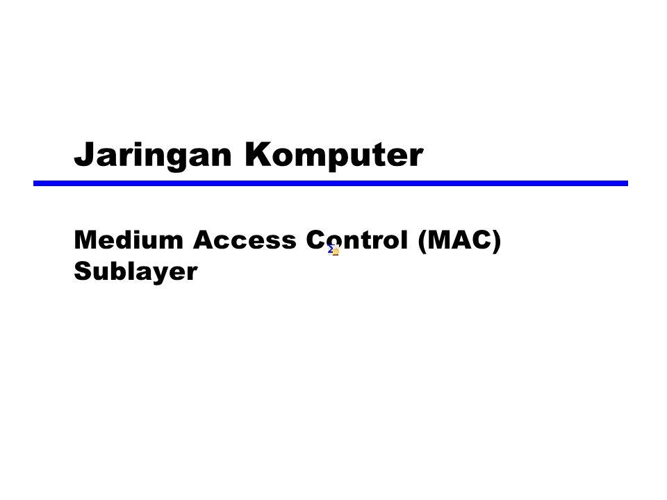 Medium Access Control (MAC) Sublayer