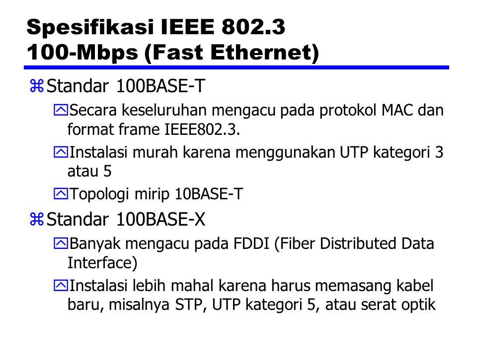 Spesifikasi IEEE 802.3 100-Mbps (Fast Ethernet)