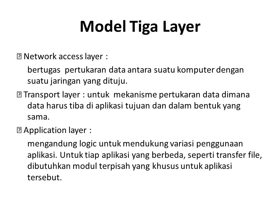 Model Tiga Layer