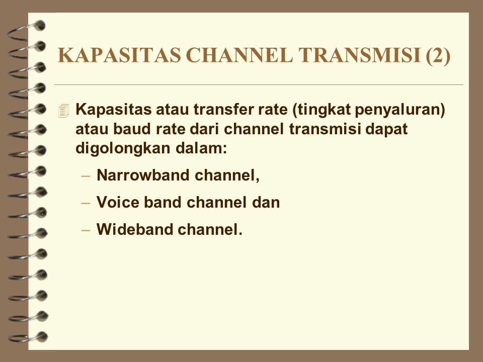 KAPASITAS CHANNEL TRANSMISI (2)
