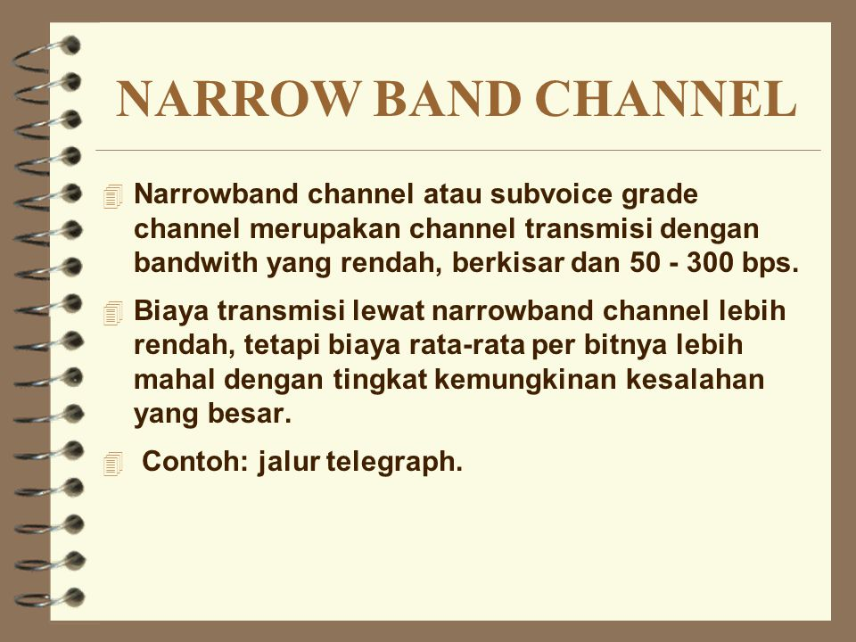 NARROW BAND CHANNEL