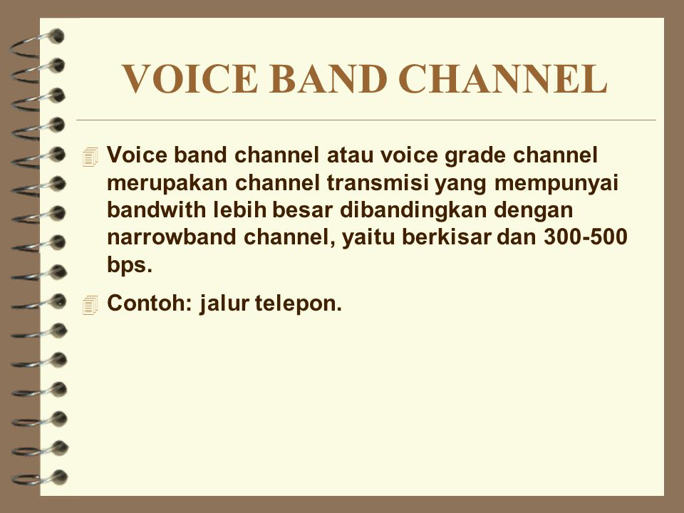 VOICE BAND CHANNEL