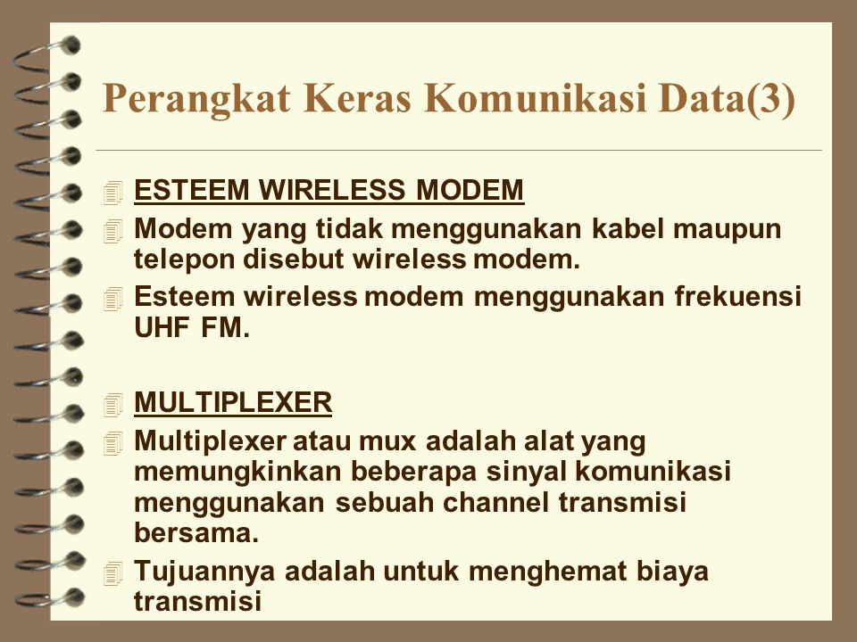 Perangkat Keras Komunikasi Data(3)