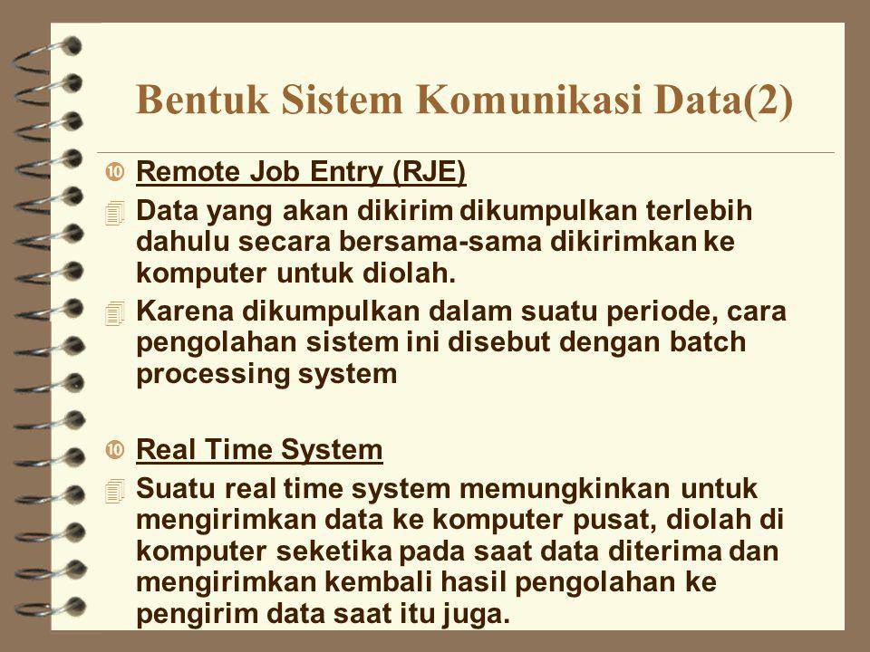 Bentuk Sistem Komunikasi Data(2)