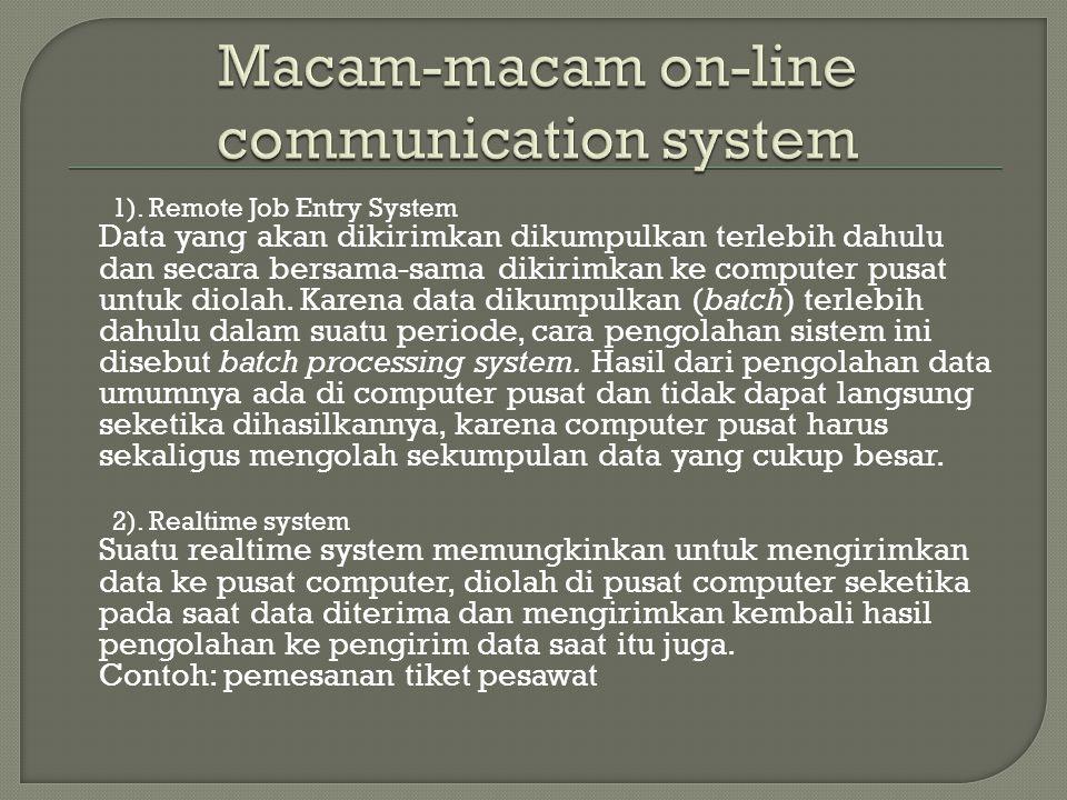 Macam-macam on-line communication system