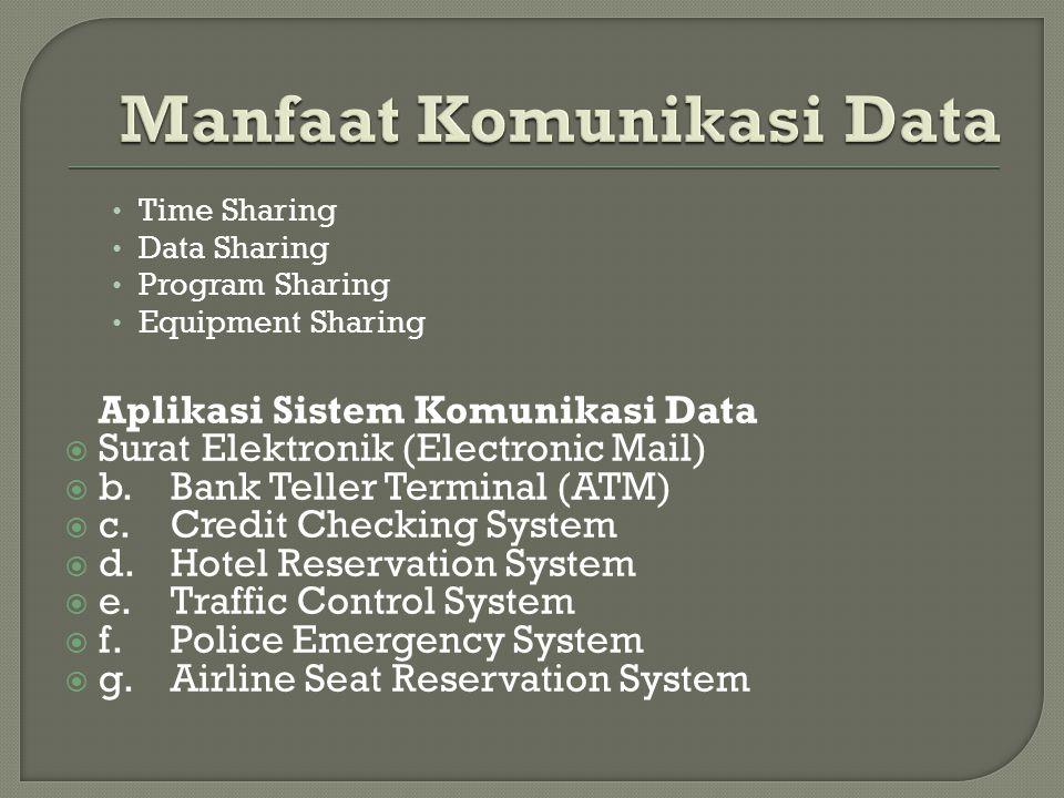 Manfaat Komunikasi Data