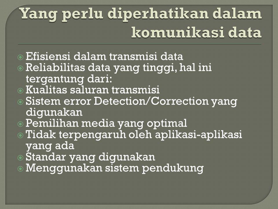 Yang perlu diperhatikan dalam komunikasi data