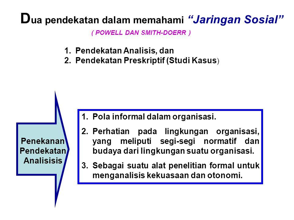Penekanan Pendekatan Analisisis
