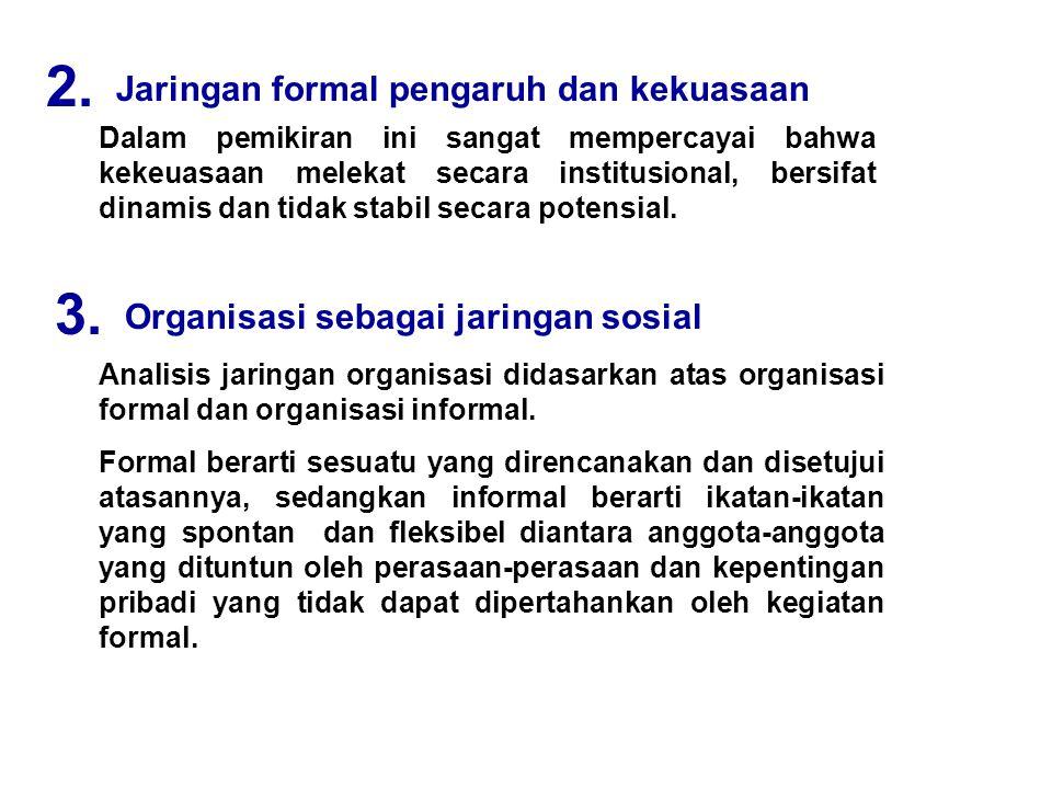 2. 3. Jaringan formal pengaruh dan kekuasaan