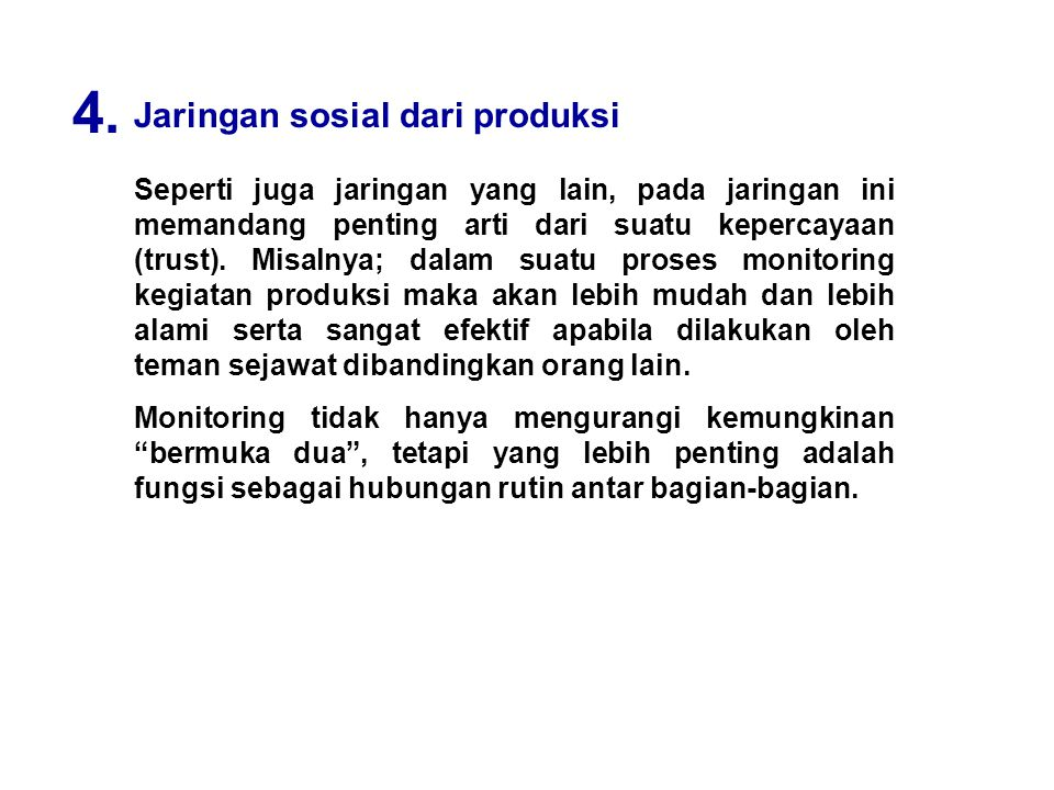 4. Jaringan sosial dari produksi