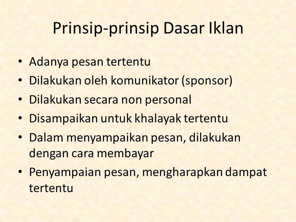 Prinsip-prinsip Dasar Iklan