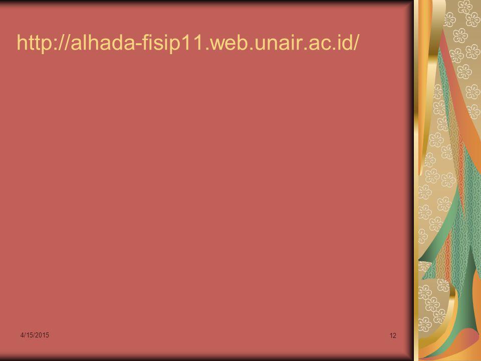 http://alhada-fisip11.web.unair.ac.id/ 4/12/2017
