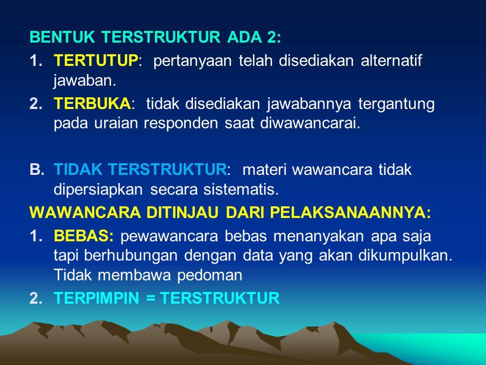 BENTUK TERSTRUKTUR ADA 2: